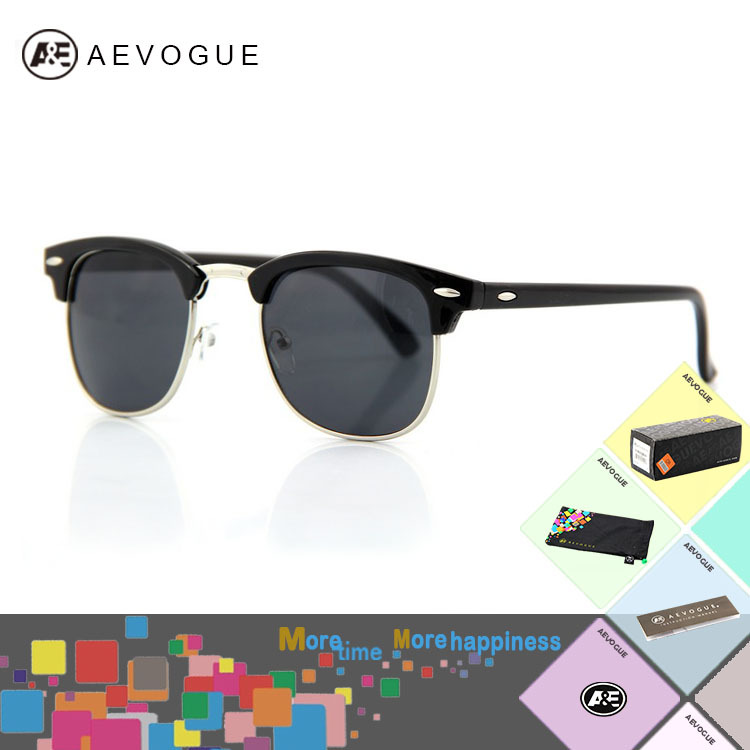 AEVOUGE with Original box brand unisex Sunglass men Multicolor lens Sun Glasses women with case gafas/oculos de sol AE0074(China (Mainland))