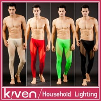 Mesh gauze pants male sexy separate underpants lace gay trousers tight low-waist sexy see through pants man men sex underwear