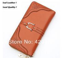 2014 coin purse women wallets genuine leather long wallets design fashion holders WALLET-11
