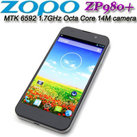 "ZOPO ZP980+ MTK6592 Octa Core 1.7Ghz  5"" 1920x1080 3G Smart Mobile Phone 14m camera Black and White in stock"