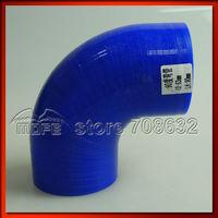 "Original Logo 5PCS LH: 90mm ID: 2.5"" to 2.5"" 63mm 90 Degree Silicone Elbow Hose Coupler Blue"