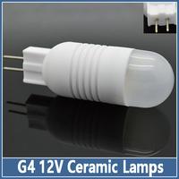 Dimmable MOQ 10pcs Ceramic G4 AC/DC12V 3W SMD 5730 LED Crystal Lamps Corn Bulb Droplight Chandelier Spot Light Cool/Warm White