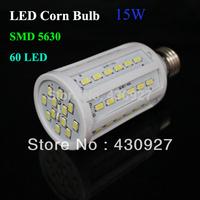 Factory Sale 1pcs/lot High Bright 15W 10W 220V 60 42 SMD 5630 LED Light Lamp Bulb LED Corn Bulb Lamp Free Shipping