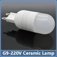 10x Ceramic G9 LED Lamps 220V 3W 5W 7W SMD 5730 Mini Crystal Corn Bulb Chandelier Droplight COB  Spot Light  Cool/Warm White