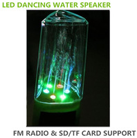 Hot Sale!!LED Dancing Water Speakers Watershow Speakers With Touch TF card Creative Speaker Loudspeakers Subwoofer Free Shipping
