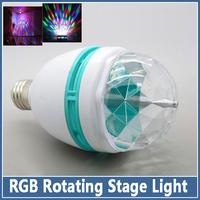 1x E27 3W RGB LED Mini Stage Lighting Effect Bar DJ Party Light Dance Lamp Holiday Rotating full color Bulb Magic Ball