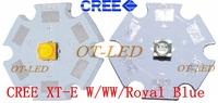 10pcs X Cree XTE XT-E 1-5W LED Emitter Warm White 3000-3200K; Cold White 6500-7000K; Royal Blue 450-452nm LED with 20MM PCB