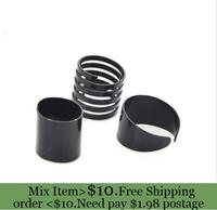 ZH0782 Newest 3 pcs cheap  Black Punk Plain Band Midi Mid Finger Knuckle Ring Set  Rock