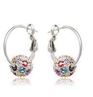 Fashion   Shiny  rolling ball crystal earrings