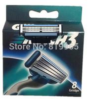 Free Shipping men Sharpener shaving razor blade original razors blades Russian & Europe & US Retail package(Total 8 blades)