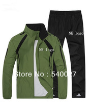 2014 New Men's Sportswear Track Suit Man Spring Autumn Casual Leisure Sport Suit Jacket and Pants 2 Pieces Promotion Hot Style