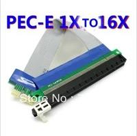 DHL Free shipping 100pcs PCI Express PCI-E PCI E express 1X to 16X riser card adapter extender cable