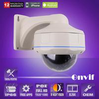 High quality Vandal-proof 2.0 Camera Megapixel 1080P HD H.264 Build-in POE Outdoor Bullet ONVIF 30IR CCTV IP Camera ANRAN