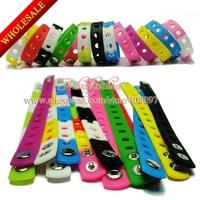 200Pcs Fashion Shoe Charms Silicone Wristbands Bracelets For Children toy 18&21CM,Mixed 14 Colors,Kids Party Favor