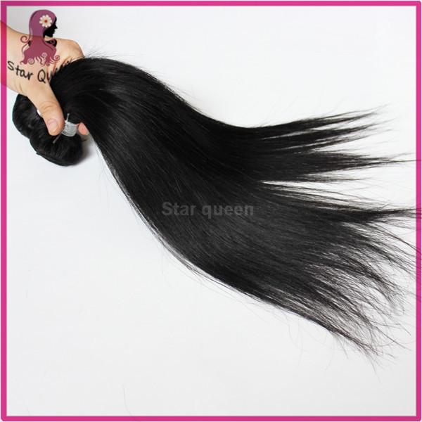 Queen cheap 32 inch brazilian hair weave 7pcs/lot straight no shedding no tangle brazilian virgin hair extensions free shipping(China (Mainland))