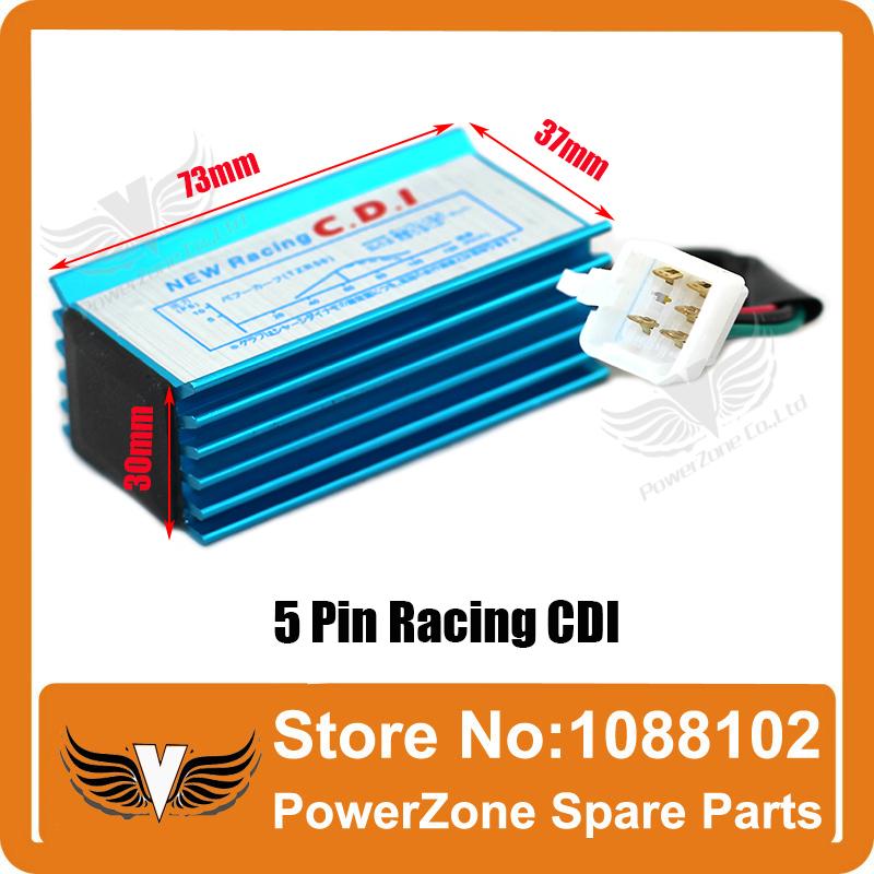 High Performance Racing CDI 5 Pin Pins Fit Tof  50cc 90cc 110cc 125cc Dirt bike, Pit Bike, ATV Electric Parts Free Shipping(China (Mainland))