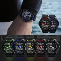 Sports Watch LED S-Shock   Analog Digital Waterproof Alarm Multi-Function