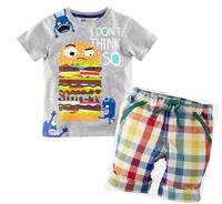 New, retails ,Free Shipping boys T shirt+pants,1set/lot