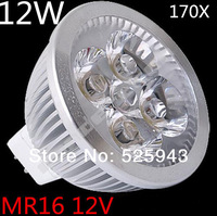 145X High Power Dimmable MR16 GU10 E27 B22 E14 GU5.3 4x3W 12W Spotlight Lamp CREE LED 12V Light Bulb Downlight