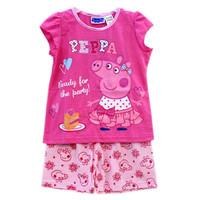 Peppa Pig Pyjamas Kids Pajamas Pijamas 2014 Hot Sell Children's Sleepwear Curto Kids Short Sleeves Free Shipping QA-025