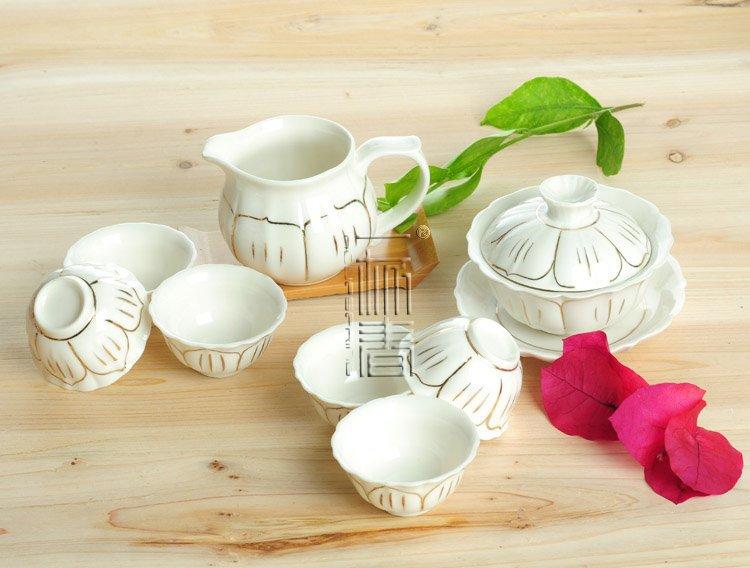 8pcs Beautiful Tea Set Porrtery Teaset A3TJ02 Free Shipping