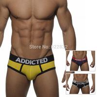 Hot Sale Men's Underwear Briefs Cotton Popular Mens/Guy/Boy/Gay Sports Underwear ES ADDICTED Size L M  S
