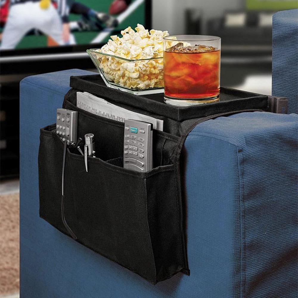 1 pcs 6 Pockets Sofa Couch Arm Rest Tidy Caddy Organizer Storage Case Bag Worldwide FreeShipping(China (Mainland))
