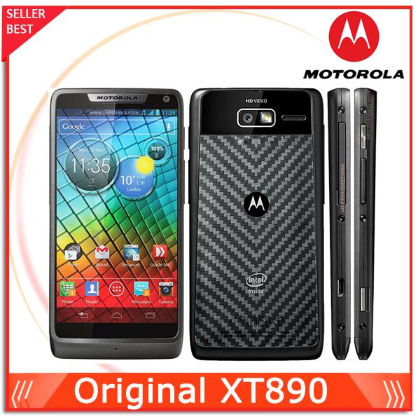 "XT890 100% Original phone Motorola XT890 cell phone Android 4.0 4.3""Touch 8GB ROM 8MP Camera NFC GPS Wifi Unlocked Mobile Phone(China (Mainland))"