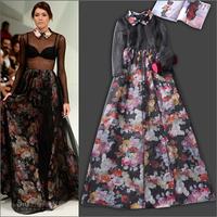 2014 runway dresses women high quality dresses brand dresses H101909