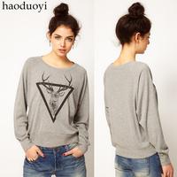 Elizabethans print Light gray o-neck pullover sweatshirt