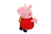 Peppa Pig Toys Hot Sale Anime Baby Toys 19CM Pepa Peppa Pig With Teddy Bear Soft Stuffed Plush Toy Gif Doll For Chiildren