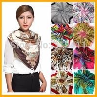 Free shipping ! hot sale satin square infinity silk a scarf,90*90cm, beautiful bandana for women  41-60 SC0271