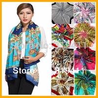 Free shipping ! 2014 NEW hot sale satin square big silk scarf,90*90cm, beautiful  flowers shawl  for women 121-140 SC0271