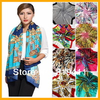 Free shipping ! 2014 NEW hot sale satin square big silk scarf,90*90cm, beautiful  flowers shawl  for women 121-140 SC0271