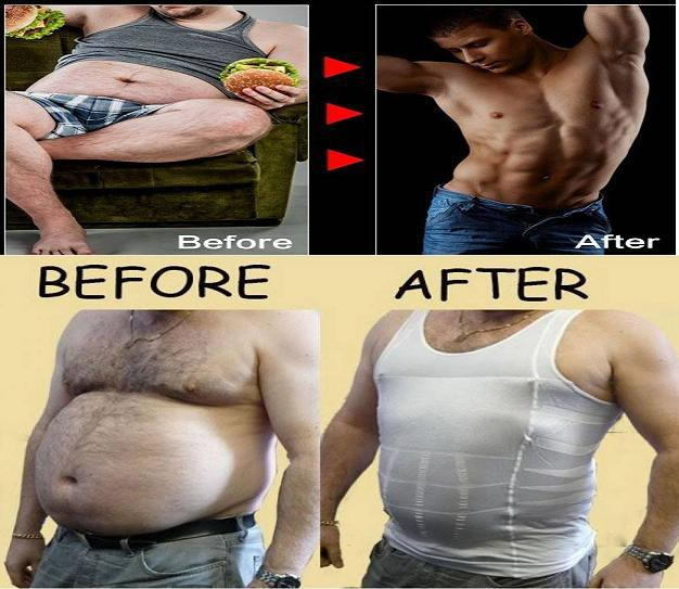 Free shipping men's slimming shirt body shaper girdle belly buster men