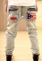 Hot Sale Children Clothing Boys WildBaby Jeans Children Trousers New Korean Version Kid Shippingjeans Jeans Free for Children.8