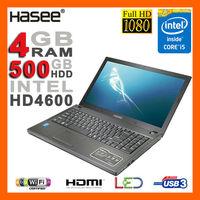 """HASEE BRAND NEW Aluminum 15.6"""" 1080p Full HD Intel Core i5-4200M 3.1GHz Laptop 4GB Ram 500GB HDD DVDRW HDMI Camera WiFi USB 3.0"""