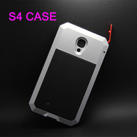 Galaxy S4 Gorilla Glass shockproof Case Original PEPK Brand Luxury Aluminum metal covers For Samsuang Galaxy S4 i9500