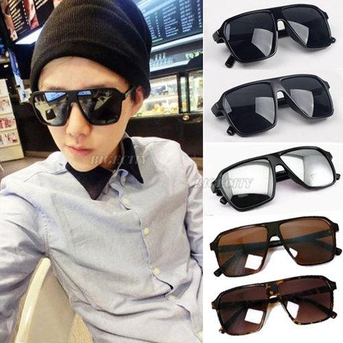 2015 man boy Fashion New Cool Vintage Unisex Oversized 80's Wayfarer Anti UV Protection Sunglasses Free Shipping A1(China (Mainland))