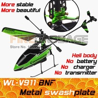 Free Shipping WL V911 BNF [Not RTF / No transmitter] Newest 4CH 2.4GHz Single Blade RC Outdoor Helicopter