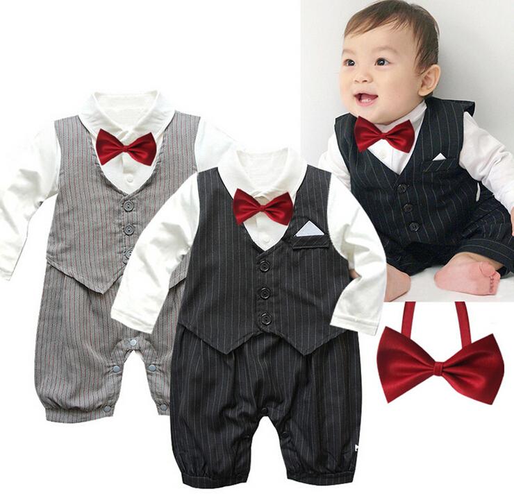 newborn conjuntos baby boys clothing sets gentleman bodysuits infant long sleeve bodysuits Macacao Fantasia bebe roupas infantil(China (Mainland))