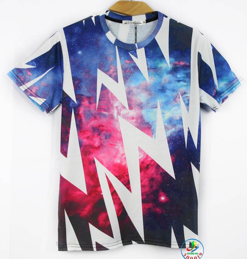 Galaxy White t Shirt Printing Galaxy T-shirt
