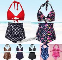 plus size high waist bikini sets,plus size swimsuit vintage bikinis,retro swimwear high waist bathing suit,push up swimsuit sexy
