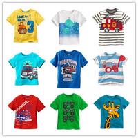 Retail Brand 1 piece 2014 New Children's T-shirt boys' Tees Baby Boy Clothing Litle boy Summer tshirt Designer Cotton Cartoon