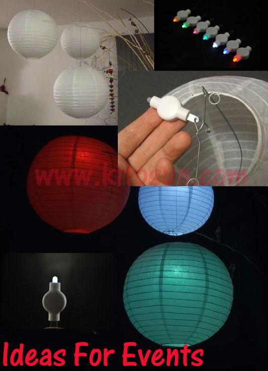 Factory Wholesale 100pcs/lot battery operated Multi-color Wedding Decorations LED Paper Lantern Light China Wholesale(China (Mainland))