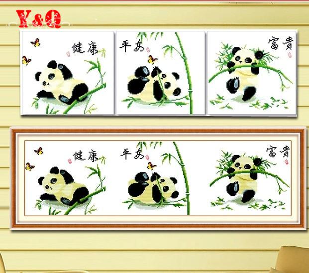 Panda cross stitch kit животных крестиком