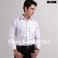 2015 Mens  Fashion Formal dress Shirts men long sleeve white shirt Diamond Buttons Cotton plus size Free shipping 8071