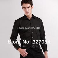 2015 Mens Business formal dress Shirts Men Long sleeve Diamond Buttons shirt Classic Black Cotton 4xl Free Shipping 8069