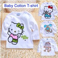 Baby 2014 Spring New Arrival Cartoon T-shirt 100% Cotton Basic shirt Child All-match Unisex T-shirt Free Shipping Hot sale