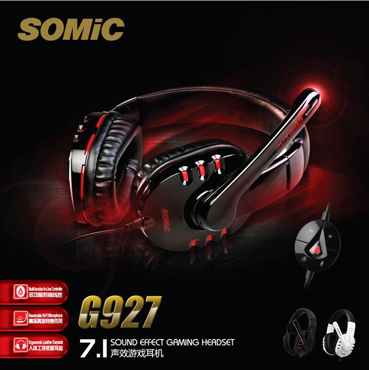 Original Genuine Somic G927 7.1 Surround Game Gaming Headset Stereo Headphone Powerful Bass Earphone with Mic, Free Shipping!(China (Mainland))